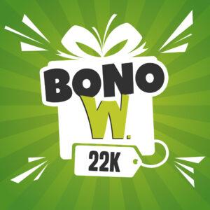 Bono W. 22K - W. Wilfredo Chacón Peluquerías
